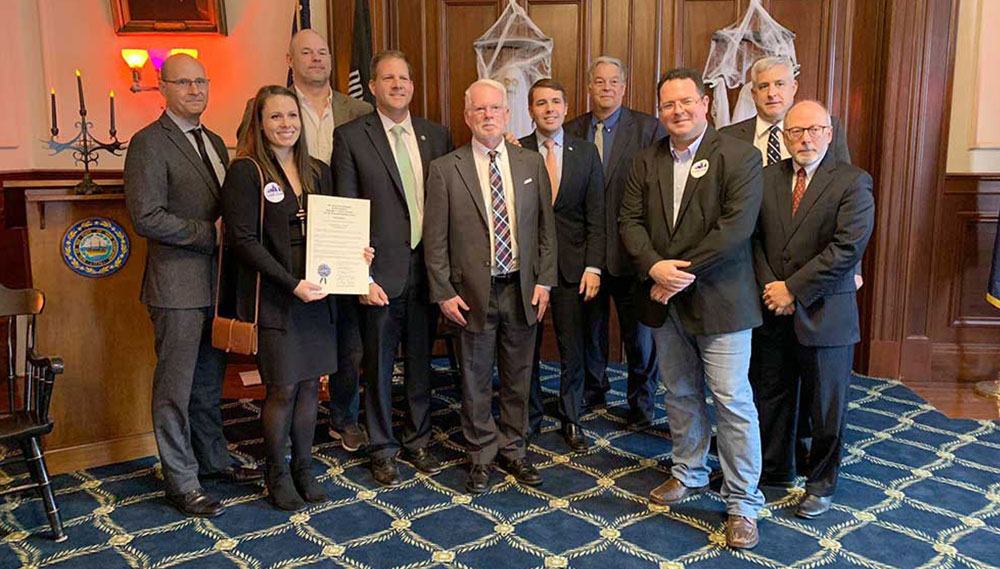 Governor Sununu who delivered a formal proclamation of the first NH Technology Month at the October Governor and Council meeting