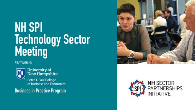 Technology Sector Meeting featuring the UNH Paul College Business in Practice Program